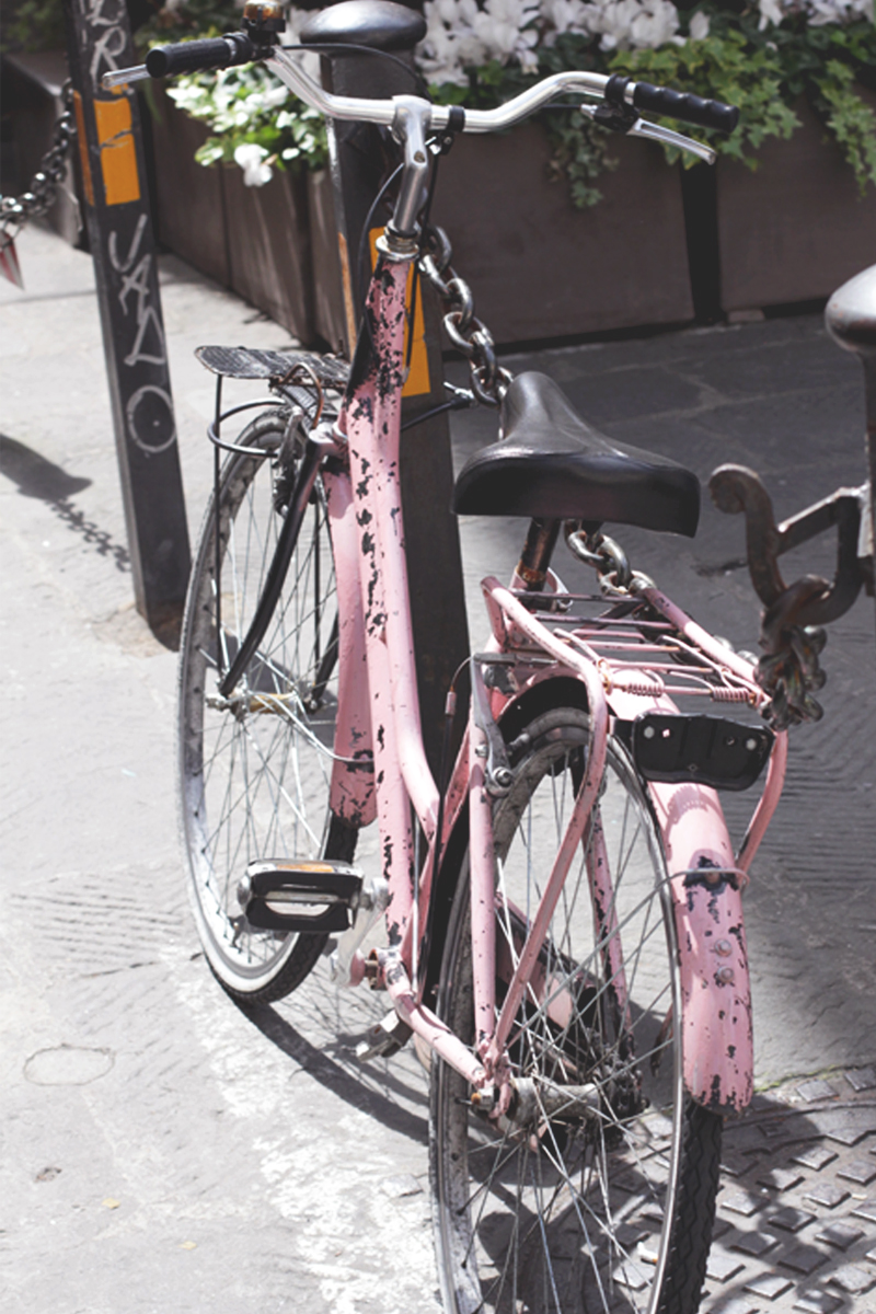 Pretty pink bicycle, Bumpkin Betty