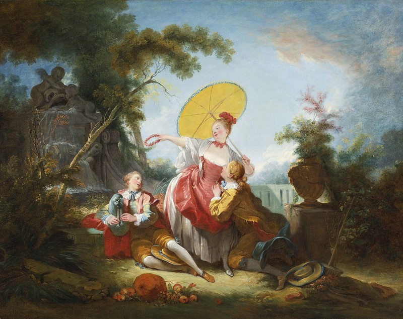Circle of Jean-Honoré Fragonard - The Musical Contest