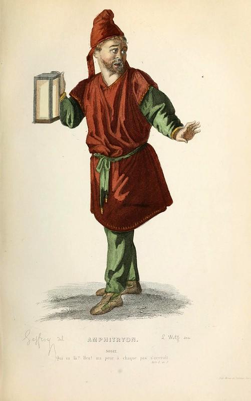 011-Anfitrion -Oeuvres completes ornee de portraits en pied colories…1871- Moliere