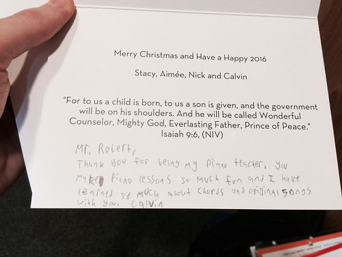Christmas Card from Calvin (Dec 22 2015)