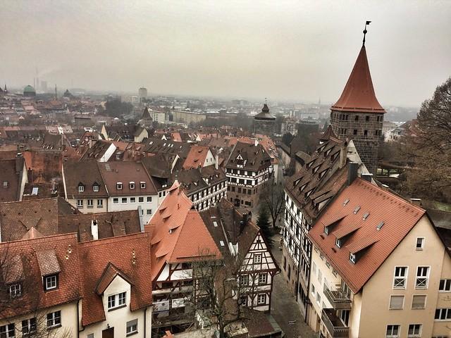 Casco viejo de Núremberg desde la torre del pecado