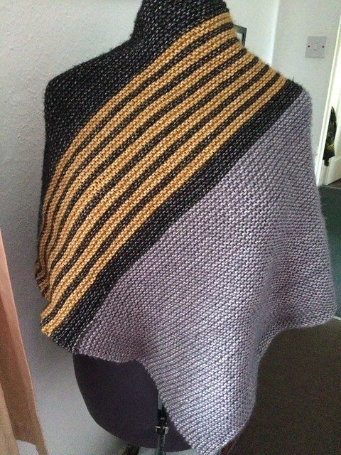 Cozy Colourblock Shawl