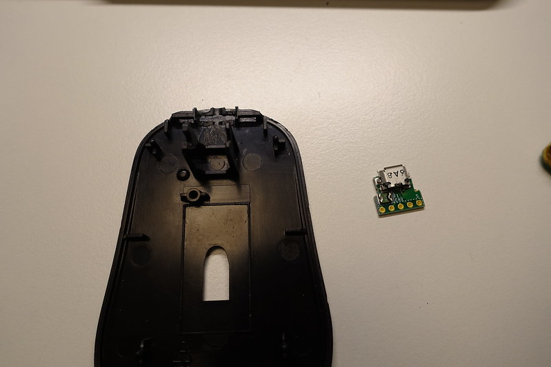 Cut USB Connector and Mouse Base