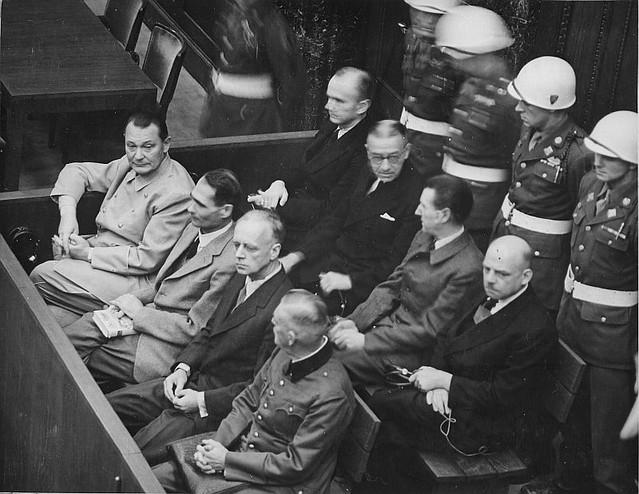 Foto de archivo de los Juicios de Nuremberg