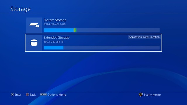 PS4 System Software Update 4.50 external HDD support