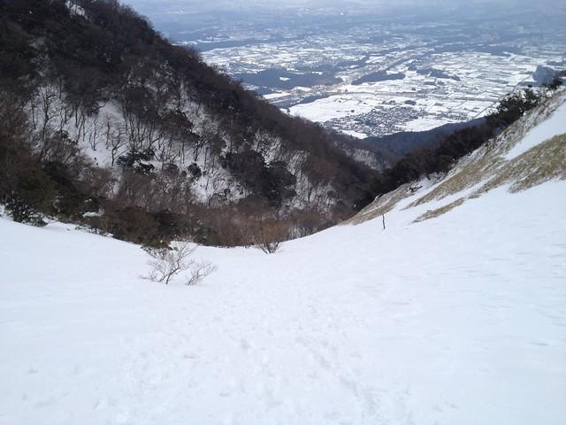 入道ヶ岳 井戸谷 斜面