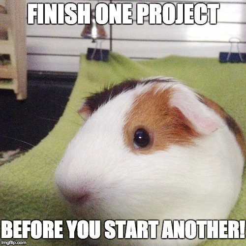 finish one project before you start another