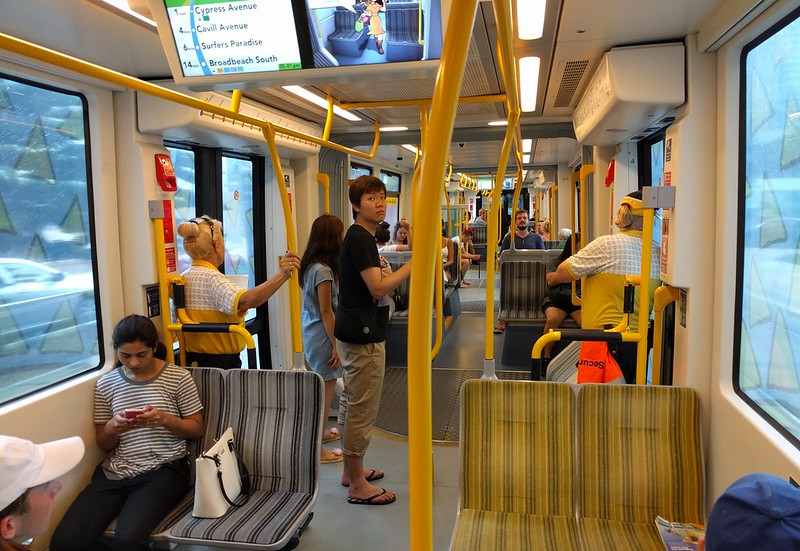 Gold Coast Light Rail tram interior
