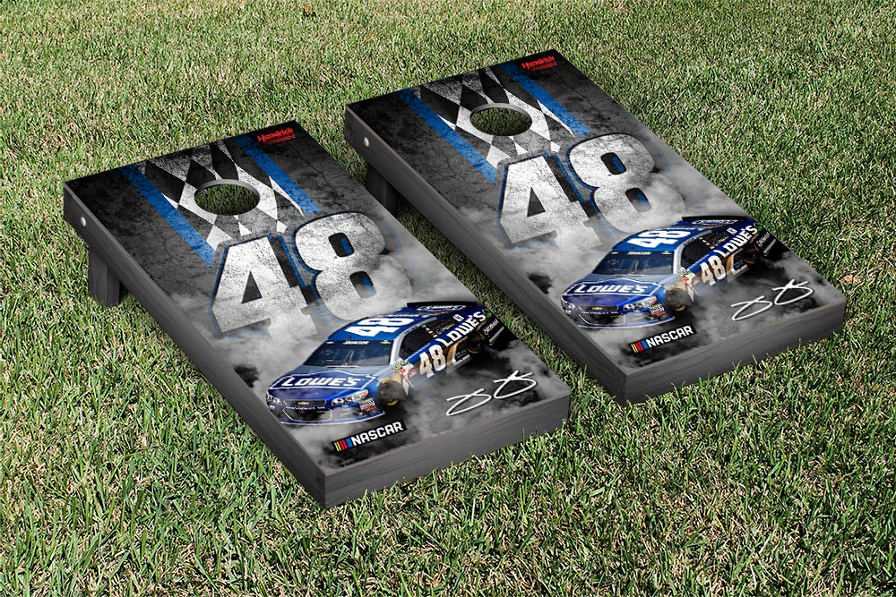 JIMMIE JOHNSON #48 CORNHOLE GAME SET CONCRETE VERSION (1)
