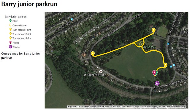 Romilly Park - Potential junior parkrun course