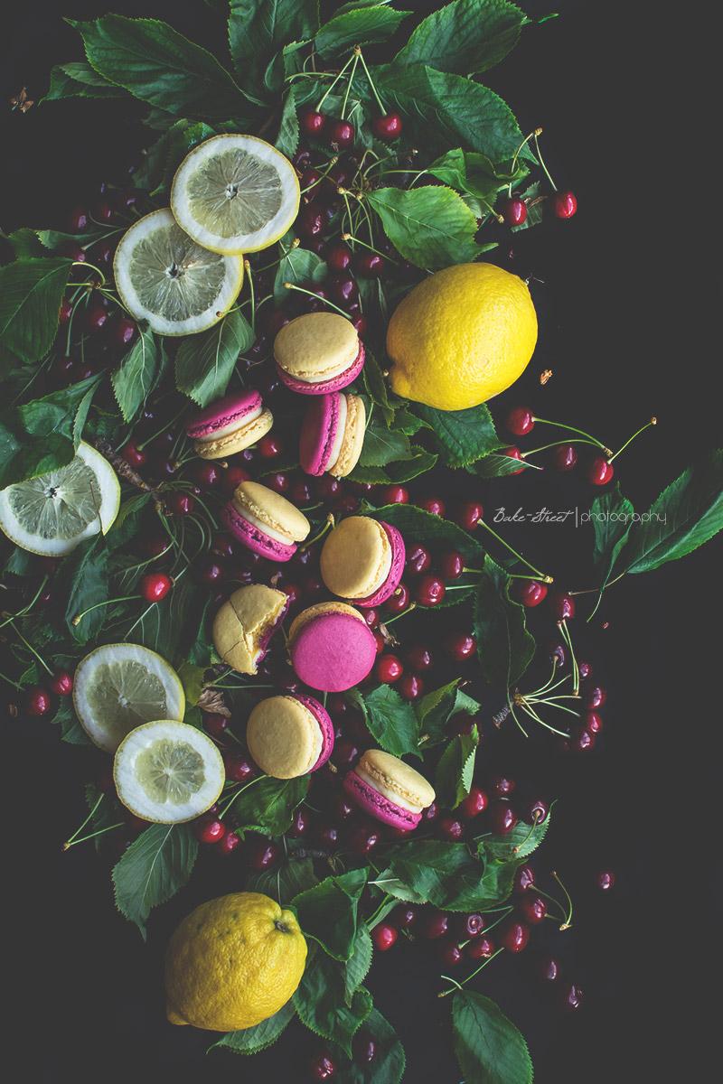 Macarons de cereza y limón