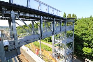 奥津軽いまべつ駅 避難階段