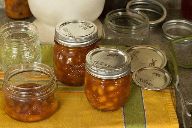 salted peach jam.