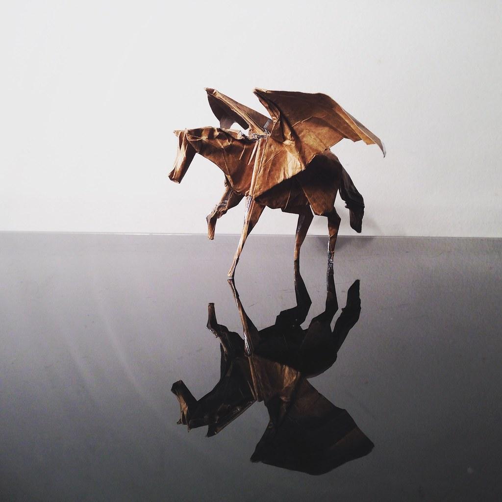 Origami Pegasus Shaunlergracie Folded By Shaunl Flickr