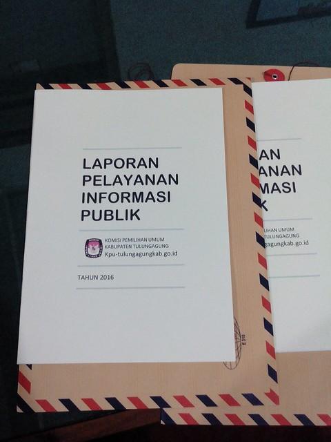 KPU TULUNGAGUNG SAMPAIKAN LAPORAN PELAYANAN INFORMASI PUBLIK KE KIP JAWA TIMUR