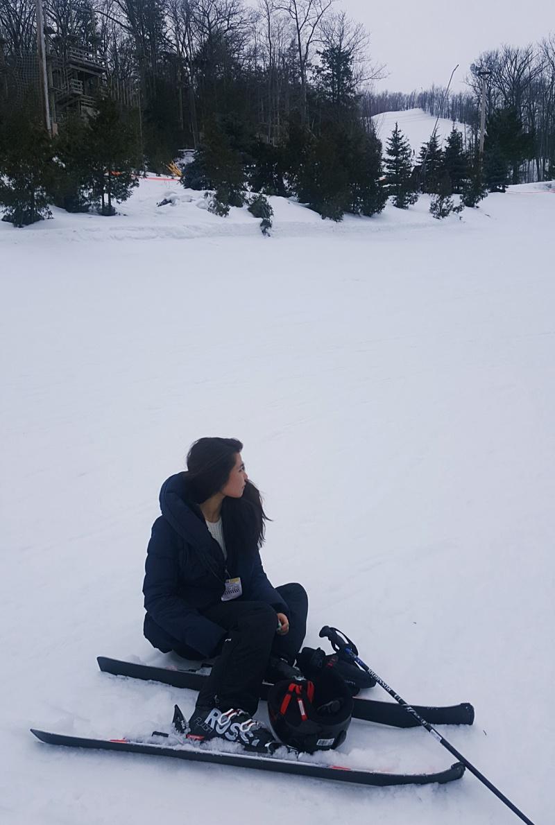 skiing leftbanked