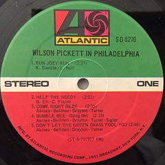 WILSON PICKET:IN PHILADELPHIA(LABEL SIDE-A)