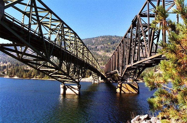 Kettle Falls Washington ~ Roosevelt lake bridges kettle falls wa bridgepixing