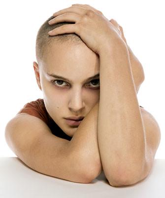 Shoulders down natalie portmans shaved head remix