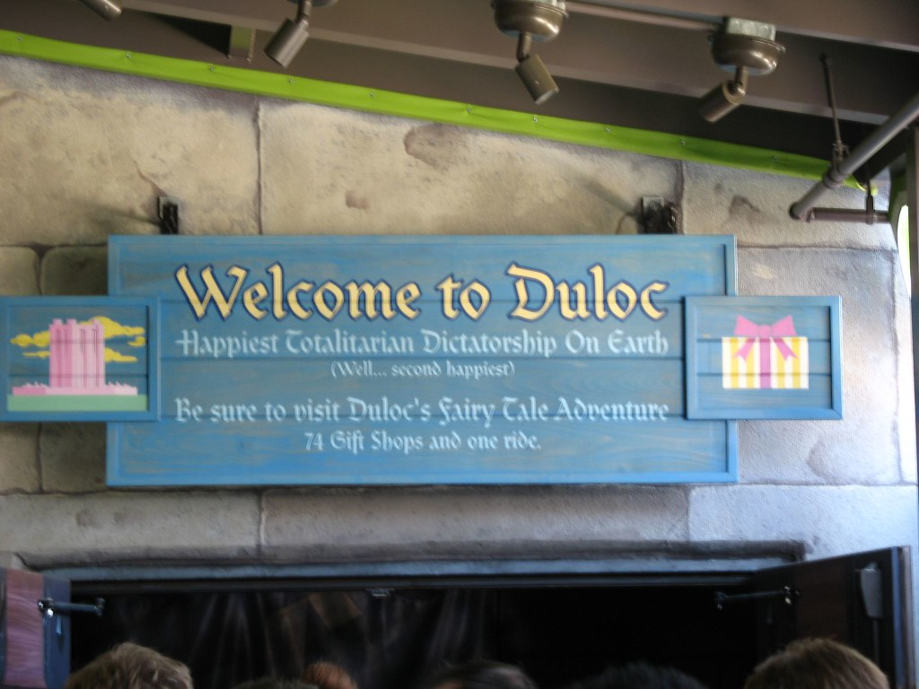 Welcome to Duloc | At the Shrek ride. Subheadings ...