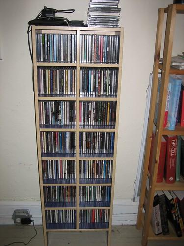 ikea robin cd storage 30 blue paint with natural wood ve flickr. Black Bedroom Furniture Sets. Home Design Ideas