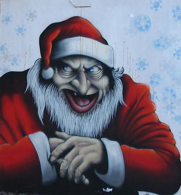 Graffiti of Evil Santa | I came upon this wall painting in A ...