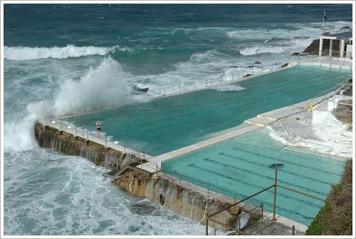Swimming Pool At Bondi Beach Bondi Beach Sydney Australi Flickr