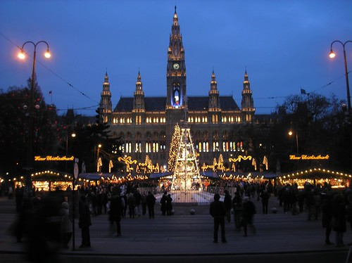 Vienna Christmas market at night | by Micah Taylor