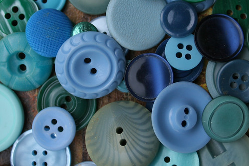 buttons, blue | by chrisglass