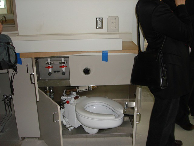 Icu Toilet That Is Used To Dispose Of Waste But Room Cou