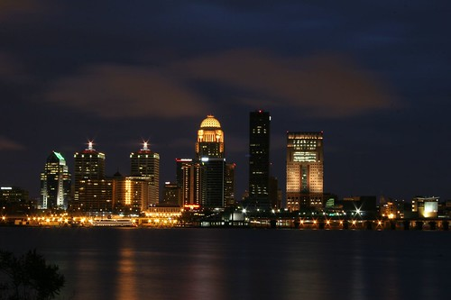 Louisville City Line at Night