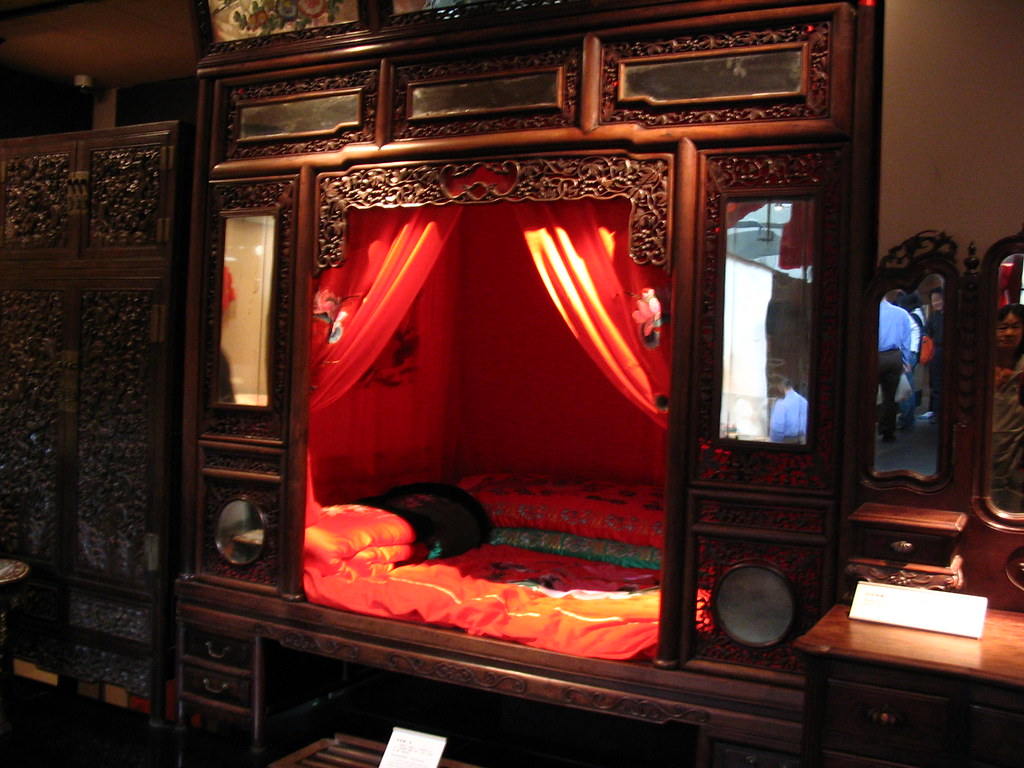 traditional chinese wedding bed in qing dynasty judy