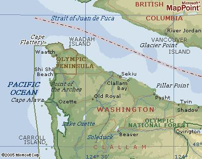 Cape Flattery Map Zoomed | Where is Cape Flattery? The North… | Flickr