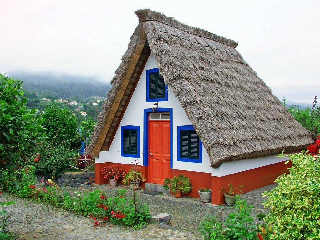 Madeira - Triangular house | A triangular house, peculiar to ...
