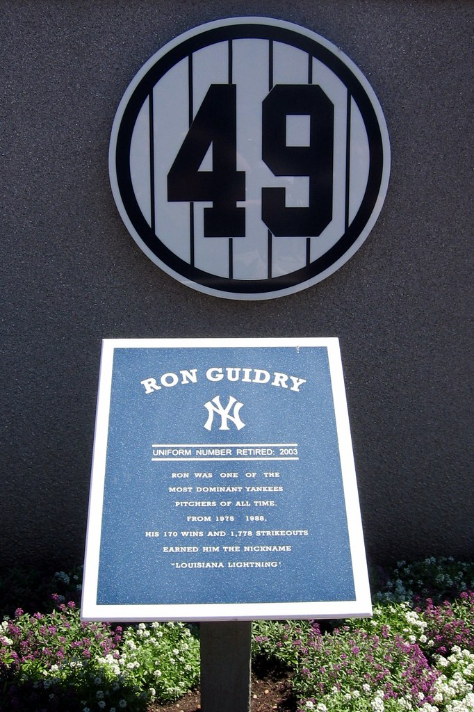 Yankee Stadium Monument Park Retired Numbers Ron Guid