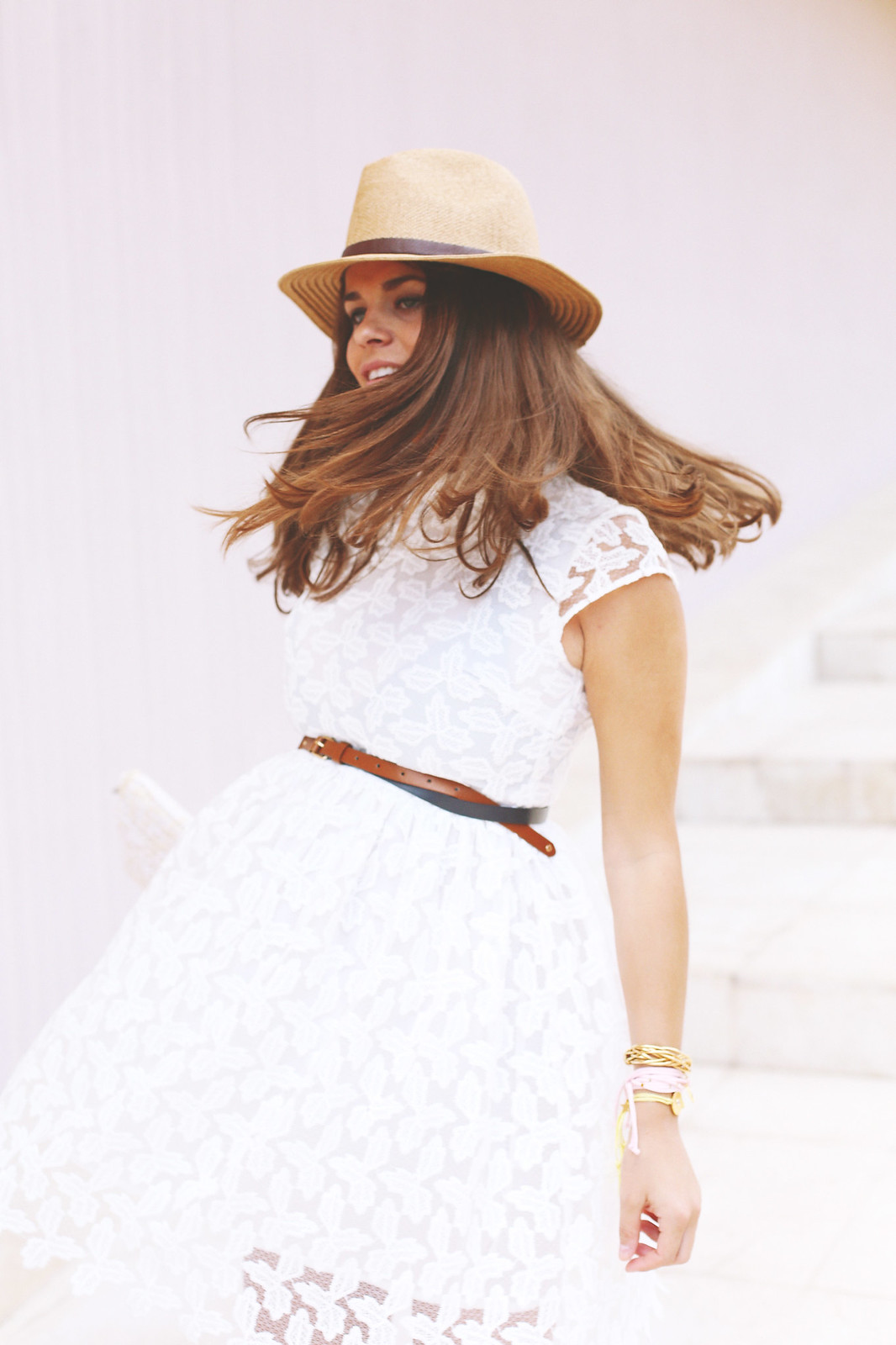 7. lace white short dress - jessie chanes - pregnancy