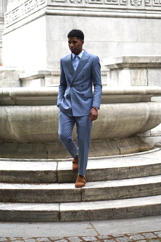 Summer Formal - Blue Glen Plaid Suit