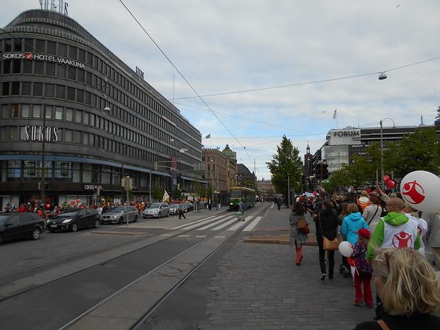 Mielenosoitus varhaiskasvatuksen leikkauspolitiikkaa vastaan keskiviikkona 10.6.2015 Helsingissä - 6