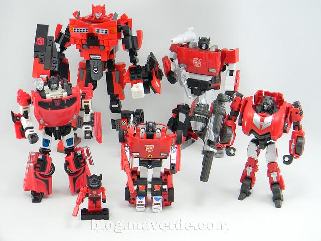 Transformers Sideswipe Kre-O - modo robot vs otros Sideswipe