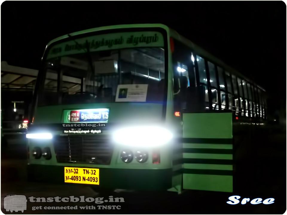 TN-32N-4093 of Vadalur Depot Route 499A Neyveli T.S. - Madurai via Vadalur, Thittagudi, Perambalur, Trichy.