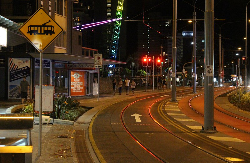Gold Coast Light Rail: shared road lane