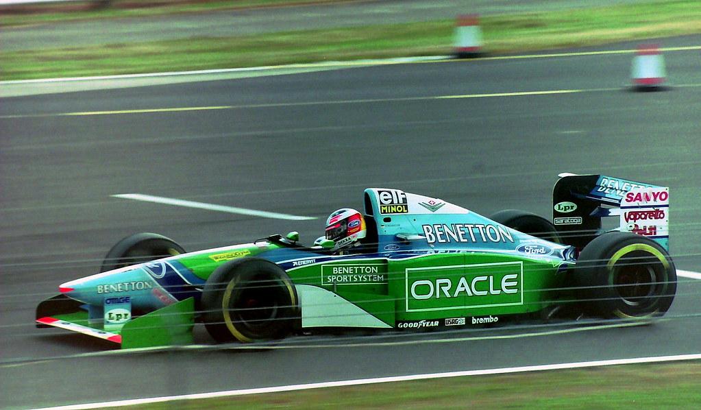 Michael Schumacher Benetton 194 At Woodcote The 1994 British Grand Prix