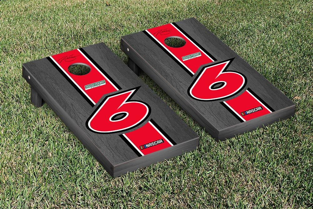 TREVOR BAYNE #6 CORNHOLE GAME SET ONYX STAINED STRIPE VERSION