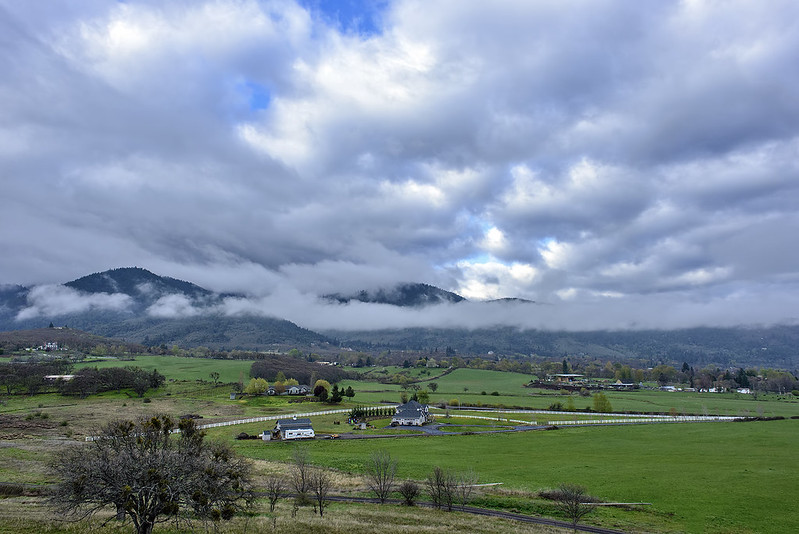 Cloudy day in Ashland, Oregon