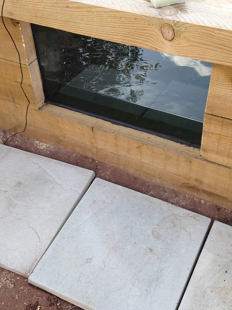 Diy glass pond window with liner pond design and for Diy cheap pond liner