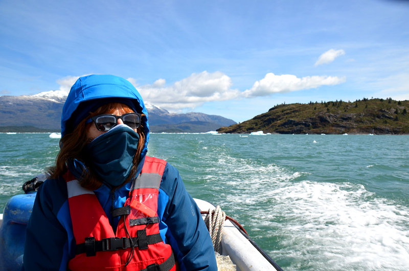 Sailing in the Patagonian ice fields, Chile