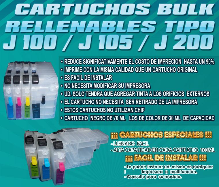 J100 J200 Lc509 Lc505 Compatibles Cartuchos Rellenables