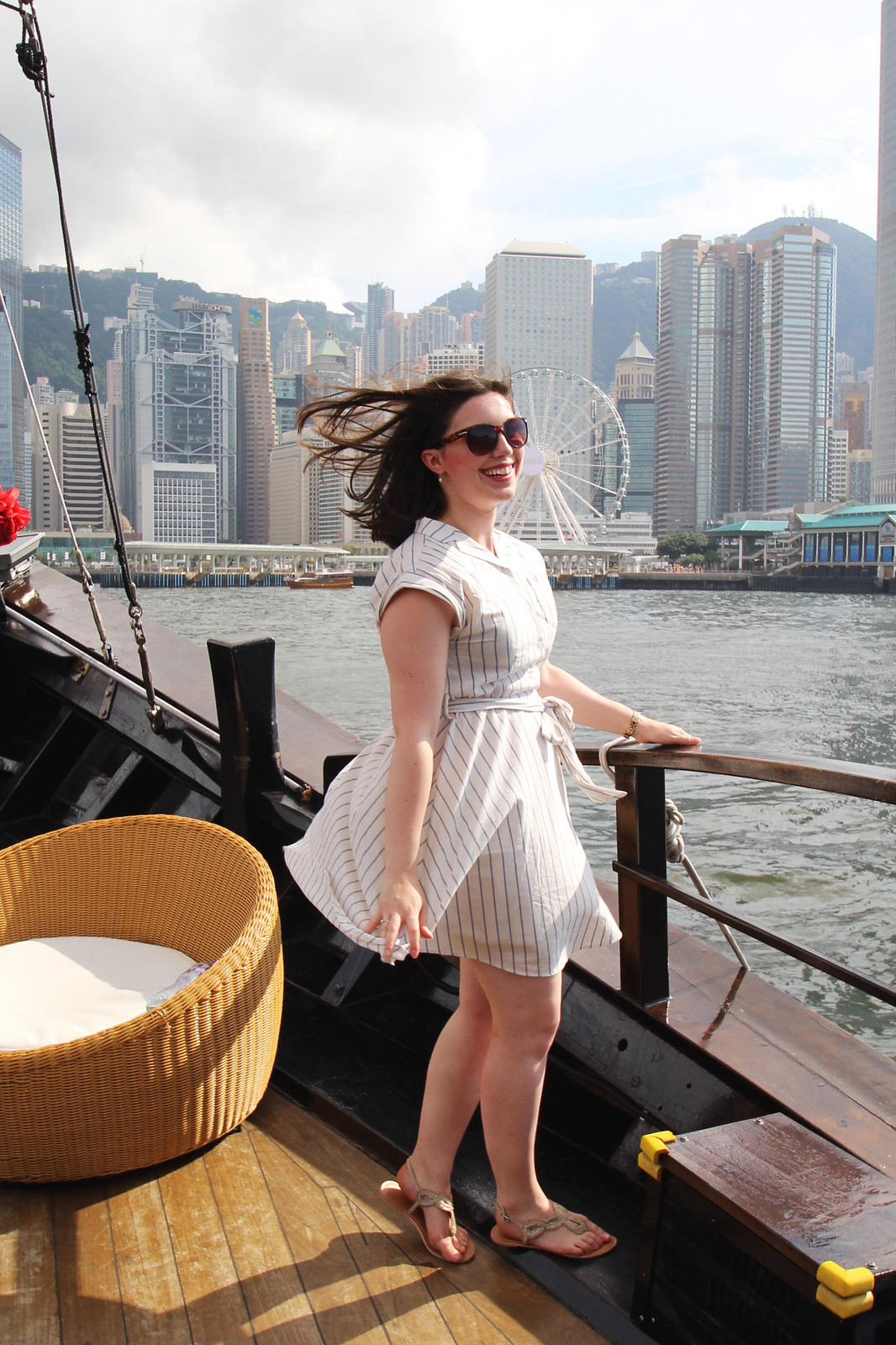 Best shopping in Hong Kong Junk Boat fashion travel blogger