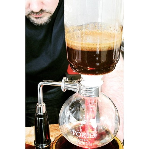 a delicious single origin siphon brewed coffee coming up