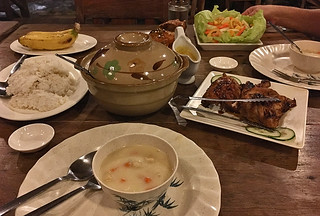 Coron - Balinsasayaw Resort dinner chicken